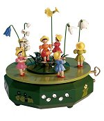 Flower Meadow Children<br> Blank Music Box